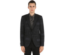 SINGLE BREASTED JACQUARD TUXEDO JACKET