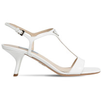 65MM LEATHER T-BAR SANDALS