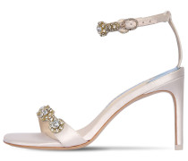 85MM AALIYAH EMBELLISHED SATIN SANDALS