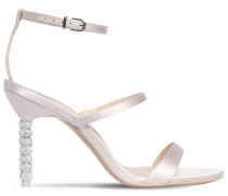 85MM ROSALIND SATIN SANDALS