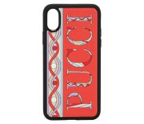 IPHONE X/XS-COVER AUS LEDER MIT LOGODRUCK