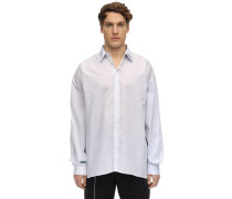DOUBLE COLLAR COTTON POPLIN SHIRT