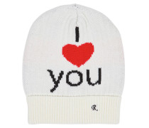 BEANIEMÜTZE AUS WOLLJACQUARD 'I LOVE YOU'