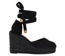 80MM HOHE ESPADRILLES-WEDGES AUS CANVAS 'CARINA'