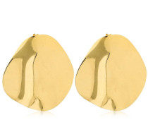 POLISHED ORGANIC SHAPE STUD EARRINGS