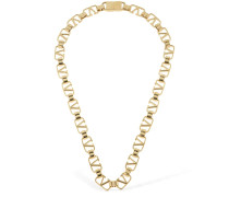 VALENTINO LOGO CHAIN NECKLACE