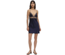 MESH & SILK SLIP DRESS