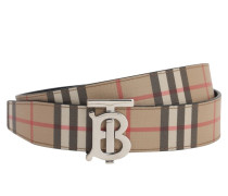 35MM TB REVERSIBLE CHECK & LEATHER BELT