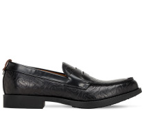 TB EMBOSSED EMILE LEATHER LOAFERS