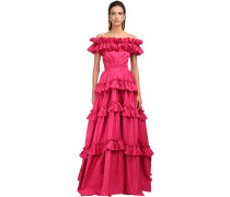 OFF-THE-SHOULDER TAFFETA GOWN