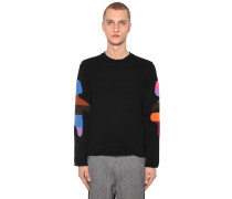 JACQUARD WOOL BLEND KNIT PULLOVER