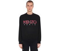 SWEATSHIRT AUS TECHNO MIT LOGOPATCHES