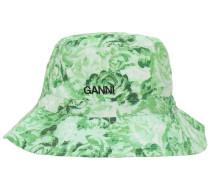 PRINTED COTTON POPLIN BUCKET HAT