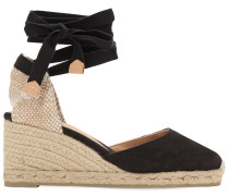 60MM HOHE ESPADRILLES-WEDGES AUS CANVAS 'CARINA'
