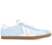 SYNTHETIC & LEATHER LOW TOP SNEAKERS