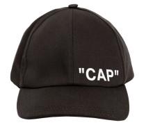 BASEBALLKAPPE AUS CANVAS MIT DRUCK 'CAP'