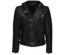 BE SPACE LEATHER JACKET