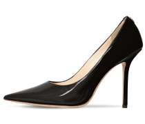 100 MM LOVE PATENT LEATHER PUMPS