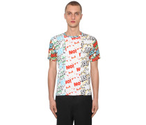 PATCHWORK PRINT COTTON JERSEY T-SHIRT