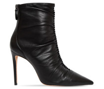 100MM SUSANNA LEATHER ANKLE BOOTS