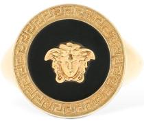 GREEK MOTIF MEDUSA PINKY RING
