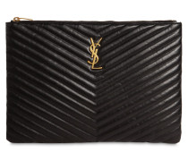 MEDIUM QUILTED LEATHER POUCH