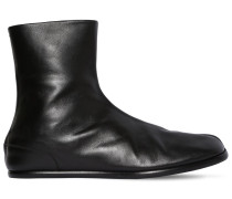 BRUSHED LEATHER TABI BOOTS