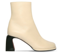 65MM CHAE LEATHER ANKLE BOOTS