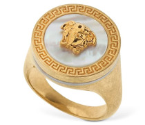ICON MEDUSA RING W/ MOTHER OF PEARL