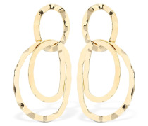 TUMBLED DOUBLE HOOP EARRINGS