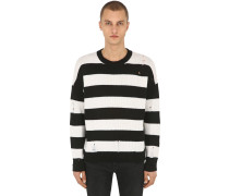 DESTROYED STRIPE WOOL KNIT PULLOVER