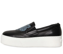 40MM SLIP-ON-SNEAKERS AUS LEDER MIT TIGER