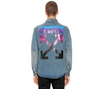 GRADIENT ARROWS DENIM SHIRT