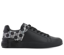 B-COURT IRIDESCENT LEATHER SNEAKERS