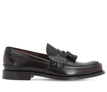 BINDER FUMÈ GLOSSY LEATHER LOAFERS