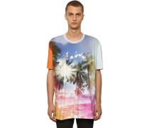 OVERSIZE PRINTED COTTON JERSEY T-SHIRT