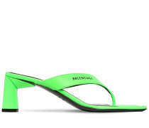 60MM LEATHER THONG SANDALS
