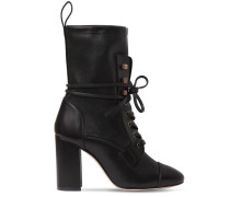 80MM VERUKA LEATHER ANKLE BOOTS
