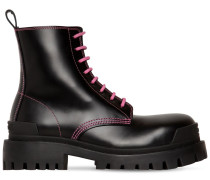 50MM STRIKE LEATHER COMBAT BOOTS