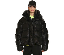 OVERSIZED SHINY NYLON DOWN JACKET