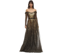 GRADIENT SEQUINED GOWN