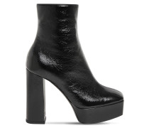 120MM PATENT LEATHER ANKLE BOOTS