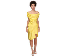 DEVANA DRAPED SATIN  MINIKLEID
