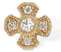 VIRGIN 18KT GOLD & DIAMOND MONO EARRING