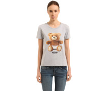 T-SHIRT AUS STRETCH-BAUMWOLLE 'TEDDY BEAR'