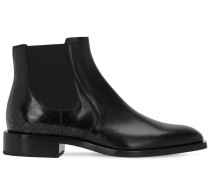 FADED LOGO LEATHER CHELSEA BOOTS
