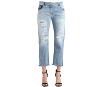 JEANS AUS BAUMWOLLDENIM IM DESTROYED-LOOK