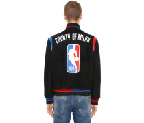 BOMBERJACKE AUS WOLLSTOFF 'NBA'