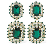 DOUBLE CRYSTAL CLIP-ON EARRINGS