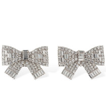 SMALL CRYSTAL BOW CLIP-ON EARRINGS
